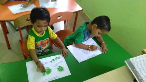Green day celebration in kindergarten