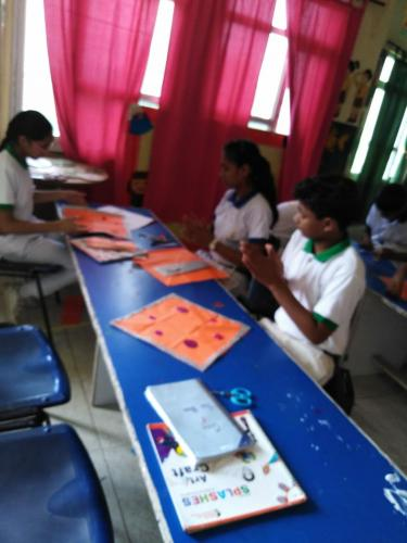 Kite Making & Wall Hanging Activity by Students