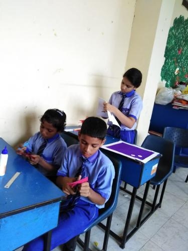 Kite Making & Wall Hanging Activity by Students10