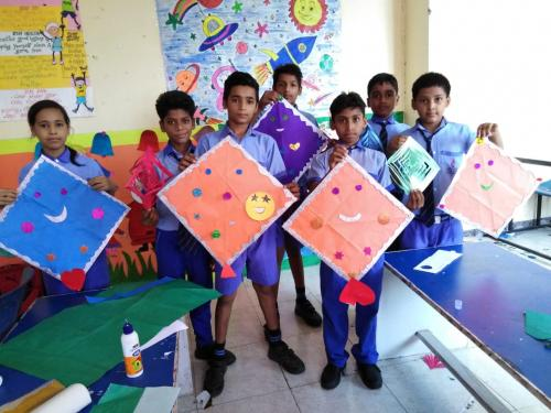 Kite Making & Wall Hanging Activity by Students11
